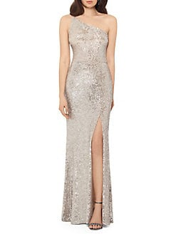 QUICK VIEW. Xscape. One-Shoulder Sequined Gown 88edecf63