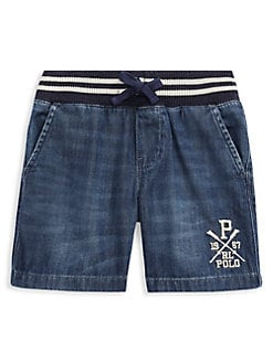 12 Months Boys Ralph Lauren Denim Shorts Customers First