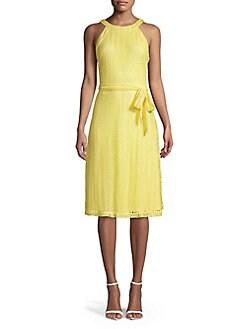 4461ab2113f QUICK VIEW. Karl Lagerfeld Paris. Belted Halter Dress