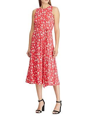 0c7248f2840 Lauren Ralph Lauren - Floral Fit- -Flare Dress