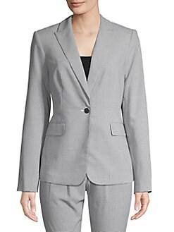f9ed502b9e8 QUICK VIEW. Calvin Klein. Checkered Notch Lapel Jacket