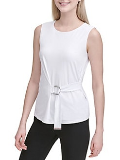 076034ee5b21a QUICK VIEW. Calvin Klein. Belted Sleeveless Top