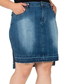 8d48c5417f QUICK VIEW. Standards and Practices. Plus Dariah High-Low Denim Skirt