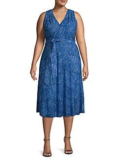 625371ce767 QUICK VIEW. MICHAEL Michael Kors. Plus Sleeveless Mosaic Printed Dress