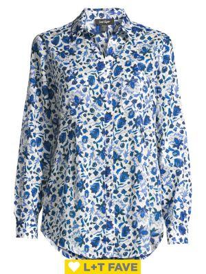 Image of Petite Nancy Floral Shirt