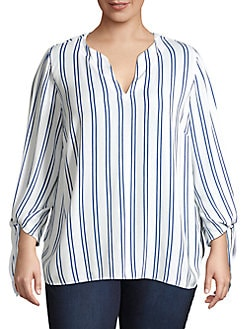 2a39f4602df3f2 Plus-Size Button-Downs & Blouses | Lord & Taylor