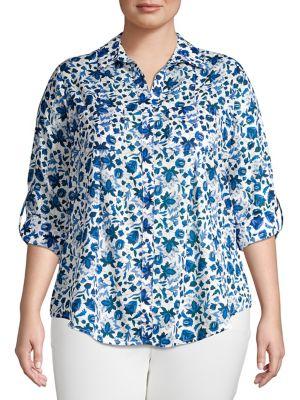 Image of Plus Nancy Floral Shirt