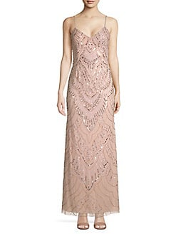 f1e944d77077 QUICK VIEW. Jump. Long Slim Beaded Gown