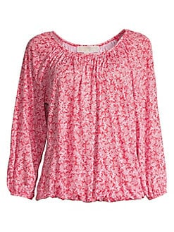eed68a8f46ab0 QUICK VIEW. MICHAEL Michael Kors. Petite Painterly Reef Peasant Top
