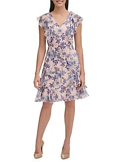 12f31f0ed647 QUICK VIEW. Tommy Hilfiger. Delphos Garden Chiffon A-Line Dress