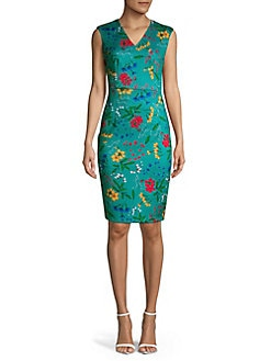 c9d046bd584a4 QUICK VIEW. Calvin Klein. Floral Sheath Dress