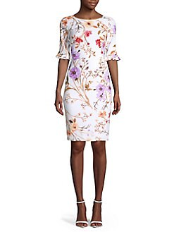 b295a87bbb3f3 QUICK VIEW. Calvin Klein. Floral Sheath Dress