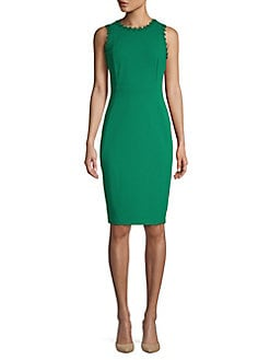 f1c9f4dcec982b QUICK VIEW. Calvin Klein. Embroidered Sheath Dress
