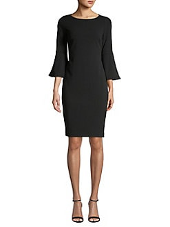 627512d1c03eb Product image. QUICK VIEW. Calvin Klein. Bell-Sleeve Sheath Dress