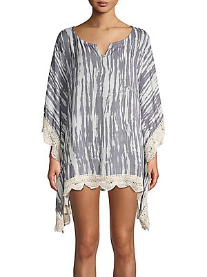 3a3524b95f Surf Gypsy - Printed V-Neck Coverup - lordandtaylor.com