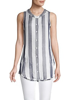 807d77db Striped Button-Front Tunic NAVY. QUICK VIEW. Product image. QUICK VIEW.  Philosophy Apparel