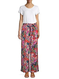 57eeab4021b Floral Short Sleeve Jumpsuit RED MULTI. QUICK VIEW. Product image