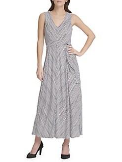 17cd1d24a8f QUICK VIEW. Donna Karan. Sleeveless Stripe Maxi Dress