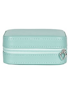 f6762ecee7e Josette Square Faux Leather Travel Jewelry Case MINT GREEN. QUICK VIEW.  Product image