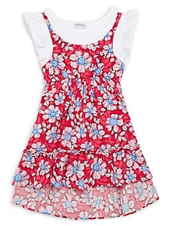 fd5c6d318 QUICK VIEW. Flapdoodles. Little Girl's Floral Cotton Blend Dress