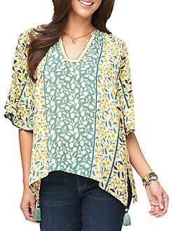 6c13023827472f QUICK VIEW. Democracy. Printed Tassel Top