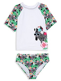 748a20806af3 Little Girl s 2-Piece Zebra Bikini Set WHITE. QUICK VIEW. Product image