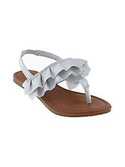 7774119c1 QUICK VIEW. Capelli New York. Girl s Metallic Ruffle Sandals
