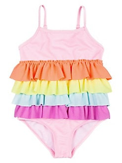 c4e8cfcb2566f Baby Girl's Ruffle 1-Piece Swimsuit PINK. QUICK VIEW. Product image