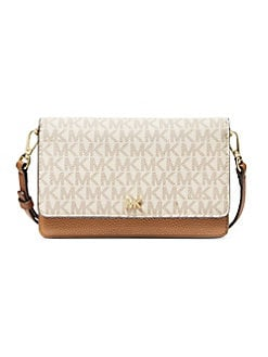 68a4939128fe Product image. QUICK VIEW. MICHAEL Michael Kors. Logo Leather Phone Crossbody  Bag