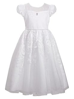 Girl s Communion Illusion Dress WHITE. QUICK VIEW. Product image 2b184cd9f