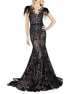 ff0f1f7acf62 QUICK VIEW. Mac Duggal. Lace Illusion Trumpet Gown