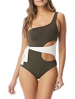 8974d8fbcba QUICK VIEW. Vince Camuto. Sunblock One-Shoulder Wrap One-Piece Swimsuit