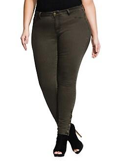 0db09c777f3 Plus Button Me Up Skinny Jeans KHAKI. QUICK VIEW. Product image