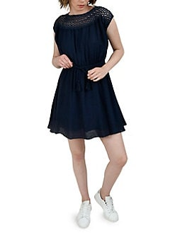 46f7379ee7786 QUICK VIEW. Molly Bracken. Eyelet Yoke Drawstring Dress
