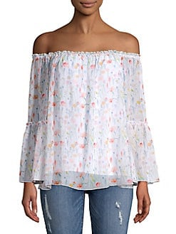 6ef5b925cb7143 QUICK VIEW. Bailey 44. Floral Off-the-Shoulder Top