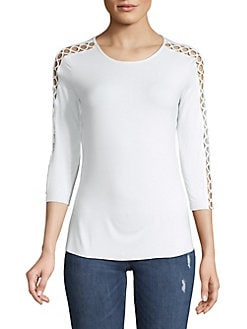 42140de56d05c QUICK VIEW. Bailey 44. Lattice-Sleeve Top