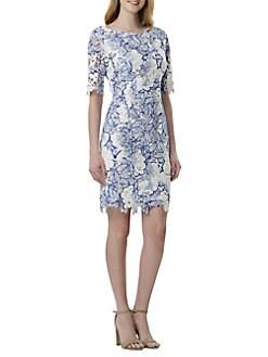 175a490389d6 QUICK VIEW. Tahari Arthur S. Levine. Floral Lace Sheath Dress