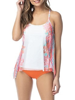 319aa0b12 QUICK VIEW. Coco Reef. Fiesta Floral Mesh Layer Tankini Top
