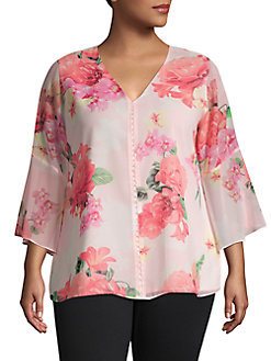15efa136daba5f Plus Size Womens Shirts & Tops | Lord + Taylor