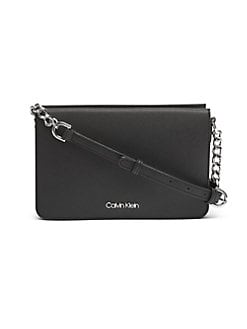 0aa4481d052e QUICK VIEW. Calvin Klein. Hayden Logo Leather Crossbody Bag