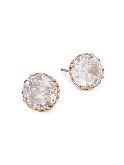 5843cd1e9 Rose Goldtone Cubic Zirconia Stud Earrings ROSE GOLD. QUICK VIEW. Product  image