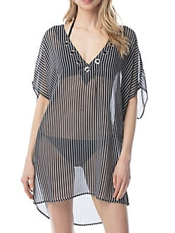 581188b9da Product image. QUICK VIEW. MICHAEL Michael Kors. Stripe Up Lace-Up Tunic