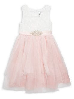 bf96f1aecc5 QUICK VIEW. Rare Editions. Little Girl s Embroidered Lace Dress