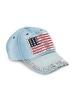 a13ac11f3 QUICK VIEW. Collection 18. Bling Flag Denim Baseball Cap