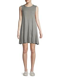 5940a99235 QUICK VIEW. Elan. Striped Sleeveless Shift Dress