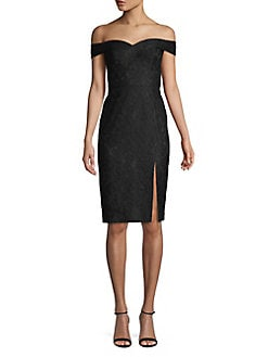 c98732ef2d9 QUICK VIEW. Aidan by Aidan Mattox. Off-The-Shoulder Lace Sheath Dress