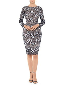653efa01e6f QUICK VIEW. Xscape. Long Sleeve Lace Sheath Dress