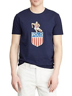 ae7cbb71 Product image. QUICK VIEW. Polo Ralph Lauren. Custom Slim-Fit Graphic Tee