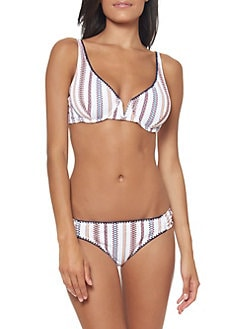 7e9fa0a72 Pattern-Stripe Bikini Swim Top SAUCE. QUICK VIEW. Product image