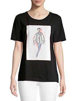 9205a6daa6755 QUICK VIEW. Karl Lagerfeld Paris. Printed Stretch Tee